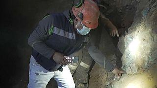 Un minero chileno trabajando