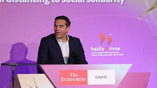 Ο Αλέξης Τσίπρας στο συνέδριο του Economist