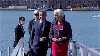 Christine Lagarde y los ministros de finanzas llegan a Venecia para el G20.