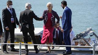 EZB-Chefin Christine Lagarde beim G20-Gipfel in Venedig