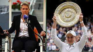 Primeira mulher a apitar uma final masculina e a primeira australiana a vencer em Wimbledon