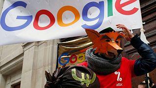 اعتراض به پرداخت ناعادلانه مالیات توسط گوگل در پاریس