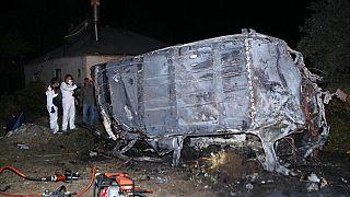 تصادف اتوبوس در شهر وان ترکیه