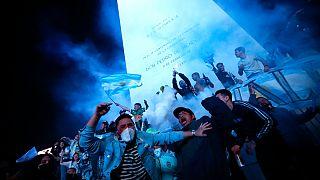Los argentinos celebran la conquista de la Copa América ante el obelisco de Buenos Aires