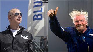 Jeff Bezos ile Richard Branson