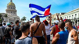 Manifestation anti-gouvernementale à La Havane, Cuba, 11 juillet 2021