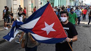 Protestzug in Havanna