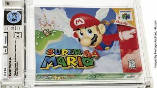 """خرطوشة غير مستعملة للعبة الفيديو الشهيرة """"سوبر ماريو"""""""