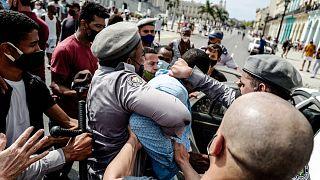 Festnahme eines Demonstranten