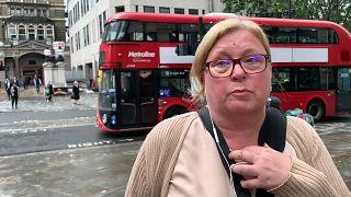 Una hincha de Inglaterra hoy en Londres, Reino Unido 12/7/2021