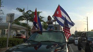 مظاهرات مناهضة للحكومة الكوبية تصل ميامي الأمريكية