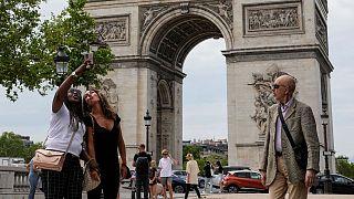 Turistas en París, Francia