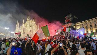 Milano'da Euro 2020 şampiyonluk kutlamaları