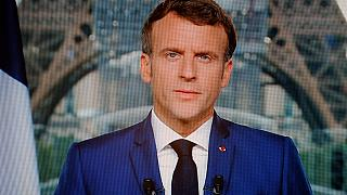 Emmanuel Macron lors de son allocution télévisée le 12 juillet 2021