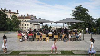 Кафе в Лионе (Франция)
