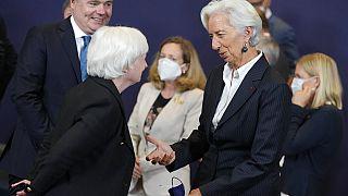 Janet Yellen und Christine Lagarde beim G20-Spitzentreffen am vergangenen Wochenende