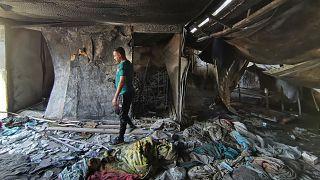 Irak'ta yangın çıkan hastane