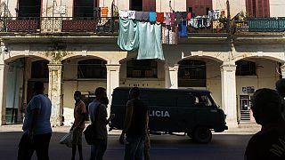Patrouille de police, La Havane, Cuba, 12 juillet 2021