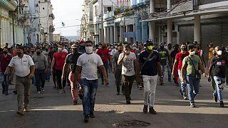 Küba'da protesto gösterileri
