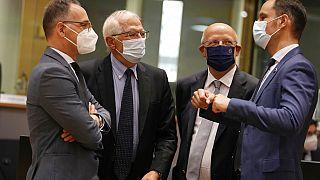Der EU-Außenbeauftrage Josep Borrell beim EU-Außenminister-Treffen in Brüssel