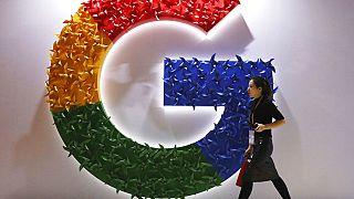 Un logo de Google dans un salon commercial en Chine