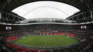 Lo stadio di Wembley poco prima dell'inizio della finale