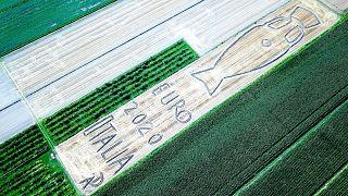 لوحة أرضية عملاقة في إيطاليا احتفالا بفوزها بكأس أمم أوروبا 2020