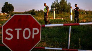 گشتزنی گارد مرزی لیتوانی در مرز با بلاروس