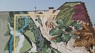 Экологически чистые граффити в Будапеште