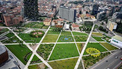 The Biblioteca degli Alberi 'Trees Library' park in Milan