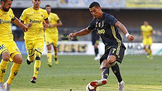 Cristiano Ronaldo al debutto in Italia: Chievo-Juventus 2-3 del 18.8.2018.