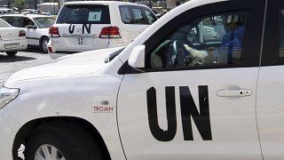 سيارة تابعة للأمم المتحدة