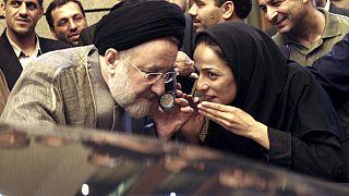 İran'ın eski Cumhurbaşkanı Muhammed Hatemi ve gazeteci Masih Alinejad