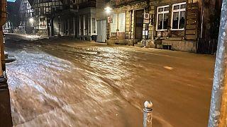 Überschwemmung nach Starkregen in Hagen