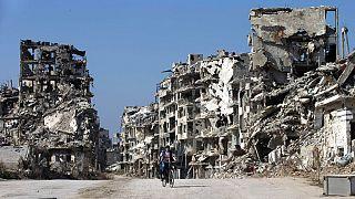 La ville de Homs en ruine, en 2016
