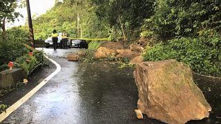 أضرار تسببت بها هزة أرضية ضربت تايوان في 2019