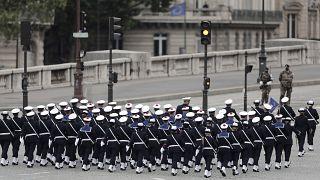 العرض العسكري التقليدي بمناسبة العيد الوطني في فرنسا