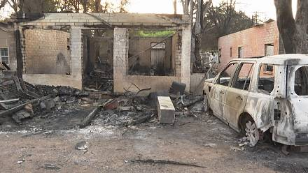 Small town in North California devastated by wildfire