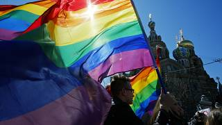 """Russia amended its constitution last year to state that marriage is a union between """"a man and a woman""""."""