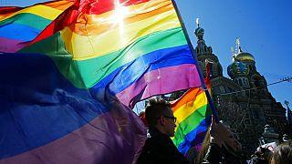 Rusya'da eşcinsel hakları aktivistleri