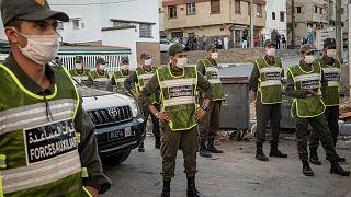 عناصر من القوات المساعدة التابعة لوزارة الداخلية المغربية، الرباط، المغرب، 17 أغسطس 2020.