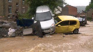 شاهد: فيضانات مفاجئة  في بلجيكا بسبب هطول أمطار غزيرة
