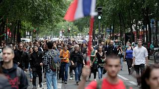 Protestors marched through the centre of Paris on Wednesday to rally against the new measures.