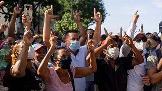 تظاهرات اعتراضآمیز در هاوانا، پایتخت کوبا
