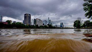 بالا آمدن آب رودخانه در فرانکفورت به دنبال بارندگیهای شدید