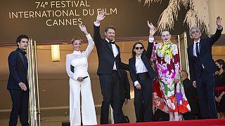 Louis Garrel, Monika Mecs, Gijs Naber, Ildiko Enyedi, Luna Wedler and Sergio Rubini  - Cannes - 14/07/2021
