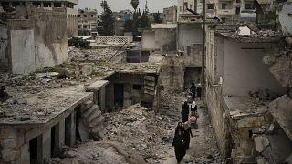 أحد أحياء إدلب في 2020