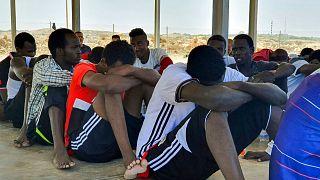 گروهی از پناهجویان در لیبی (عکس از آرشیو)