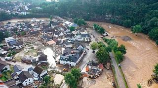 Almanya'nın Schuld bölgesinde su taşkını