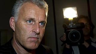 In this Thursday Jan. 31, 2008 file photo, Dutch crime reporter Peter R. de Vries arrives for a live TV show in Amsterdam, Netherlands.